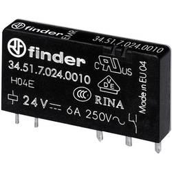 Finder 34.51.7.024.4010 rele za tiskano vezje 24 V/DC 6 A 1 menjalo 20 kos Tube