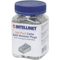 Intellinet 100-pack Cat5e RJ45 modularni vtič STP 3-točkovni kontakt žice za trdno žico 100 čepov v skodelici crimp kontakt sreb