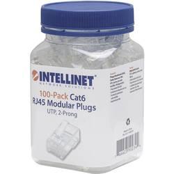 Intellilnet 100-paket Cat6 RJ45 modularni vtič UTP 2-točkovni kontakt žice za nasedle žice 100 čepov na skodelico crimp kontakt