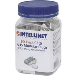 Intellinet 90-pack Cat6 RJ45 modularni konektor STP 3-točkovni kontakt žice za trdi kabel 90 priključek v skodelici crimp kontak