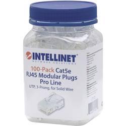 Intellinet 100-paketni modularni konektor Cat5e RJ45 Pro Line UTP 3-točkovni kabelski kabel za trde žice 100 konektorjev v skode