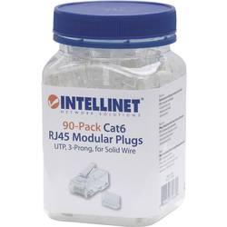 Intellinet 90 paket Cat6 RJ45 modularni konektor UTP 3-točkovni kontakt žice za trdi kabel 90 priključek v skodelici crimp konta