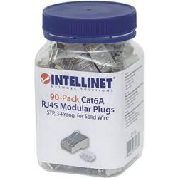 Intellinet 90-pack Cat6A RJ45 modularni konektor STP 3-točkovni kontakt žice za trdi kabel 90 priključek v skodelici crimp konta