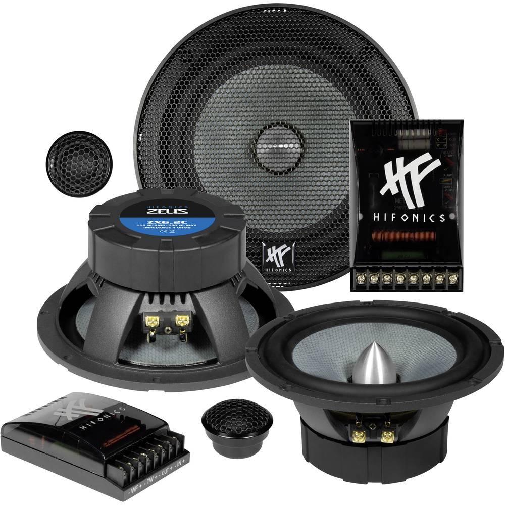 Hifonics ZX-6.2C Komplet 2-sistemskih vgradnih zvočnikov 250 W Vsebina: 1 KOS