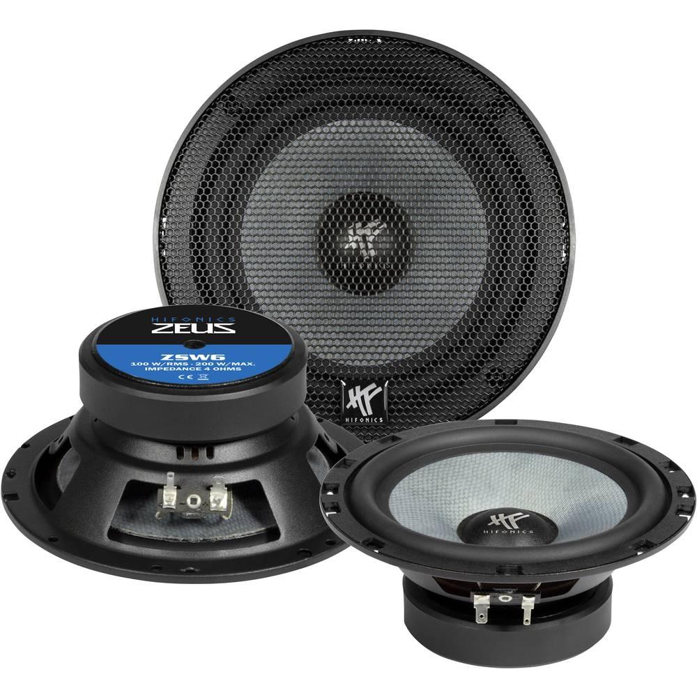 Hifonics ZSW-6 2-sistemski koaksialni zvočniki za vgradnjo 200 W Vsebina: 1 kos