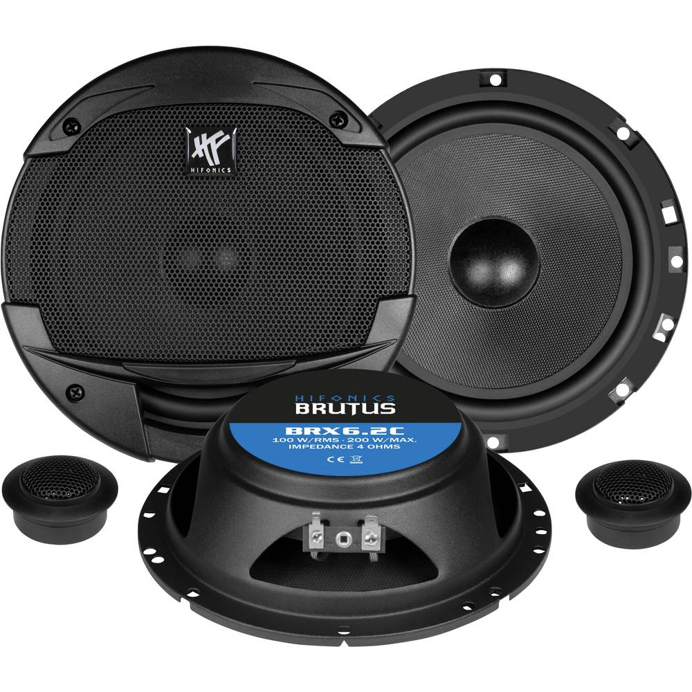 Hifonics BRX-6.2C 2-sistemski koaksialni zvočniki za vgradnjo 200 W Vsebina: 1 KOS
