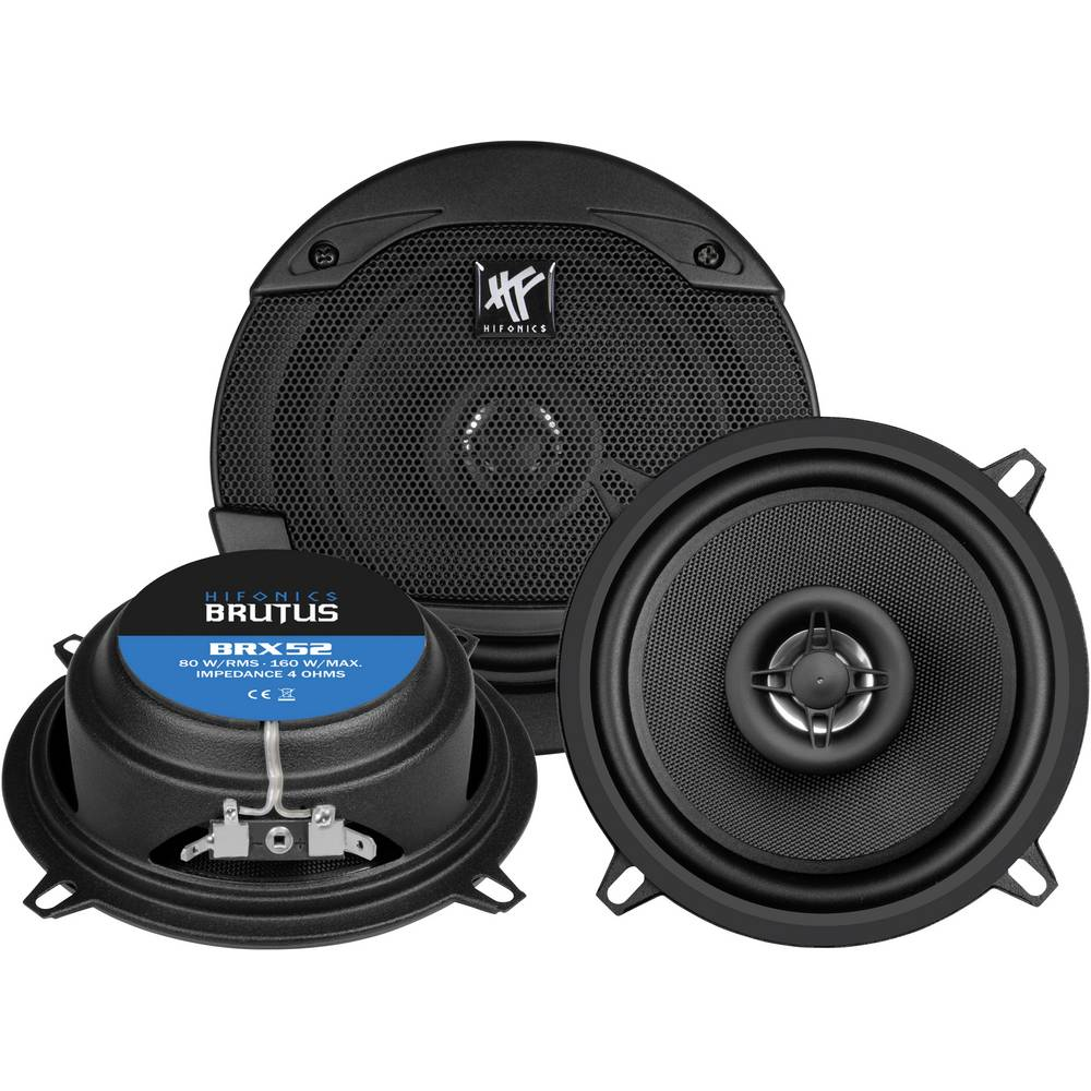 Hifonics BRX-52 2-sistemski koaksialni zvočniki za vgradnjo 160 W Vsebina: 1 KOS