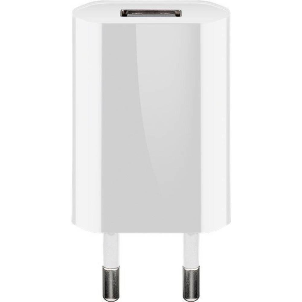 Goobay flach1A 44950 USB napajalnik Vtičnica Izhodni tok maks. 1000 mA 1 x Ženski konektor USB 2.0 tipa A