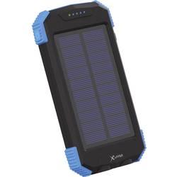 Xlayer indukcijski Powerbank 2100 mA Wireless-Solar 217168 10000 mAh Izhodi USB, Qi standard Črna/modra