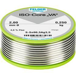 Felder Löttechnik ISO-Core VA spajkalna palica tuljava Sn96.5Ag3.5 0.250 kg 2 mm