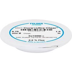 Felder Löttechnik ISO-Core Ultra-Clear Sn100Ni+ spajkalna žica, neosvinčena tuljava Sn99.25Cu0.7Ni0.05 0.75 mm