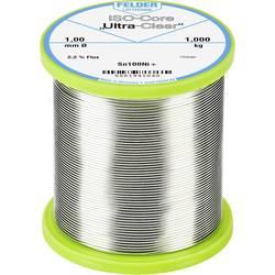Felder Löttechnik ISO-Core Ultra-Clear Sn100Ni+ spajkalna žica, neosvinčena tuljava Sn99.25Cu0.7Ni0.05 1.000 kg 1 mm