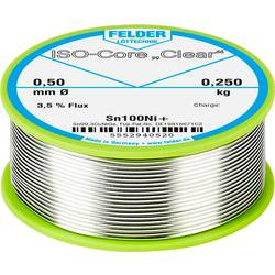 Felder Löttechnik ISO-Core Clear Sn100Ni+ spajkalna palica tuljava Sn99.25Cu0.7Ni0.05 0.250 kg 0.5 mm
