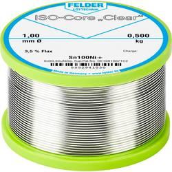 Felder Löttechnik ISO-Core Clear Sn100Ni+ spajkalna palica tuljava Sn99.25Cu0.7Ni0.05 0.500 kg 1 mm