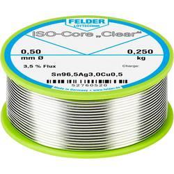 Felder Löttechnik ISO-Core Clear SAC305 spajkalna palica tuljava Sn96.5Ag3Cu0.5 0.250 kg 0.50 mm