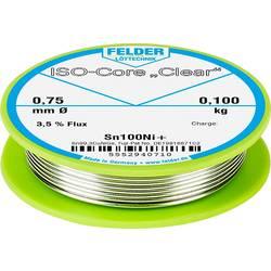 Felder Löttechnik ISO-Core Clear Sn100Ni+ spajkalna palica tuljava Sn99.25Cu0.7Ni0.05 0.100 kg 0.75 mm