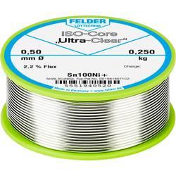 Felder Löttechnik ISO-Core Ultra-Clear Sn100Ni+ spajkalna žica, neosvinčena tuljava Sn99.25Cu0.7Ni0.05 0.250 kg 0.50 mm