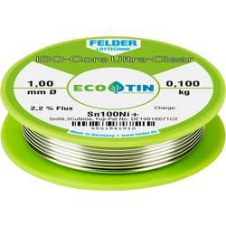 Felder Löttechnik ISO-Core Ultra-Clear Sn100Ni+ spajkalna žica, neosvinčena tuljava Sn99.25Cu0.7Ni0.05 0.100 kg 1 mm