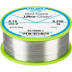Felder Löttechnik ISO-Core Ultra-Clear Sn100Ni+ spajkalna žica, neosvinčena tuljava Sn99.25Cu0.7Ni0.05 0.250 kg 0.75 mm