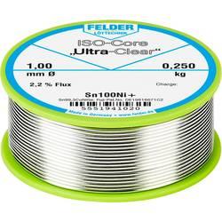 Felder Löttechnik ISO-Core Ultra-Clear Sn100Ni+ spajkalna žica, neosvinčena tuljava Sn99.25Cu0.7Ni0.05 0.250 kg 1 mm