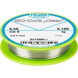 Felder Löttechnik ISO-Core Clear Sn100Ni+ spajkalna palica tuljava Sn99.25Cu0.7Ni0.05 0.100 kg 0.50 mm