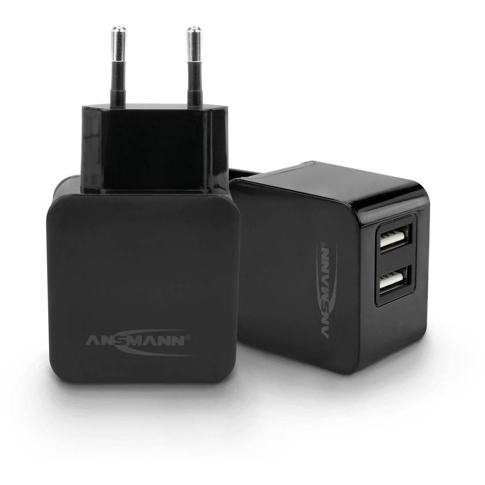Ansmann Home Charger 231 1001-0067-1 USB napajalnik vtičnica Izhodni tok maks. 3000 mA 2 x USB