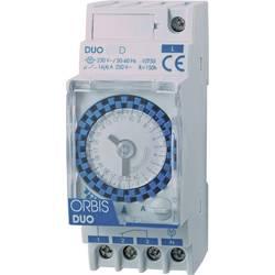 ORBIS Zeitschalttechnik DUO D 230 V din časovna stikalna ura analogno 120 V/AC, 230 V/AC, 12 V/AC, 12 V/DC, 24 V/AC, 24 V/DC, 48