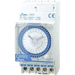 ORBIS Zeitschalttechnik SUPRA QRS 230V din časovna stikalna ura analogno 120 V/AC, 230 V/AC, 12 V/AC, 12 V/DC, 24 V/AC, 24 V/DC,