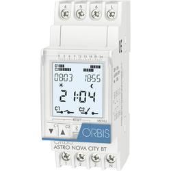 ORBIS Zeitschalttechnik ASTRO NOVA CITY 230 V din časovna stikalna ura digitalno 120 V/AC, 230 V/AC, 12 V/AC, 12 V/DC, 24 V/AC,