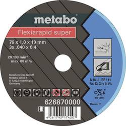 Metabo Flexiarapid Super 626870000 Rezna ploča ravna 76 mm 10 mm 1 St.