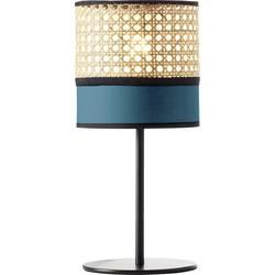 namizna svetilka E27 60 W Brilliant Dayanara 99087/73 modra, les