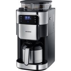 aparat za kavu Severin Filterkaffeemaschine mit Mahlwerk und Edelstahl-Thermokanne, crna, plemeniti čelik (brušeni) Kapacitet ča
