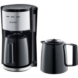 aparat za kavu Severin KA 9253 crna, plemeniti čelik (brušeni) Kapacitet čaše=8 termosica, s funkcijom filter kave