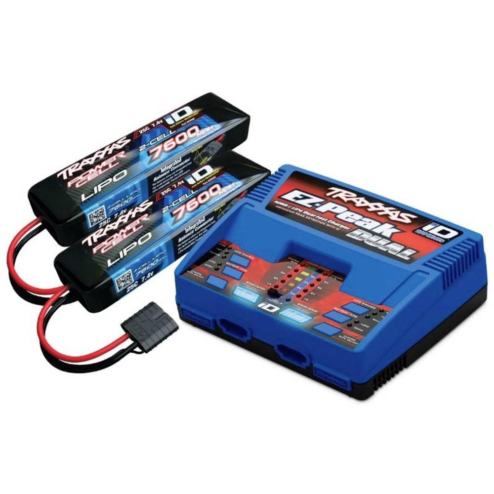 polnilnik akumulatorjev za modelarstvo 8 A Traxxas EZ-Peak Plus Dual +2x LiPo-Akku litijev-polimerski, nikelj-metal-hidridni
