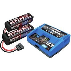polnilnik akumulatorjev za modelarstvo 12 A Traxxas EZ-Peak Live + 2x LiPo-Akku litijev-polimerski, nikelj-metal-hidridni