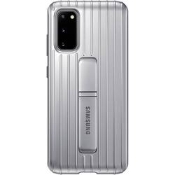 Samsung Protective Standing Cover Etui Galaxy S20 Srebrna