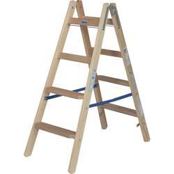 Krause 818317 les a-lestev s stopnico zložljiva, vklj. kavelj za vedro Delovna višina (maks.): 2.5 m borovina 8.5 kg