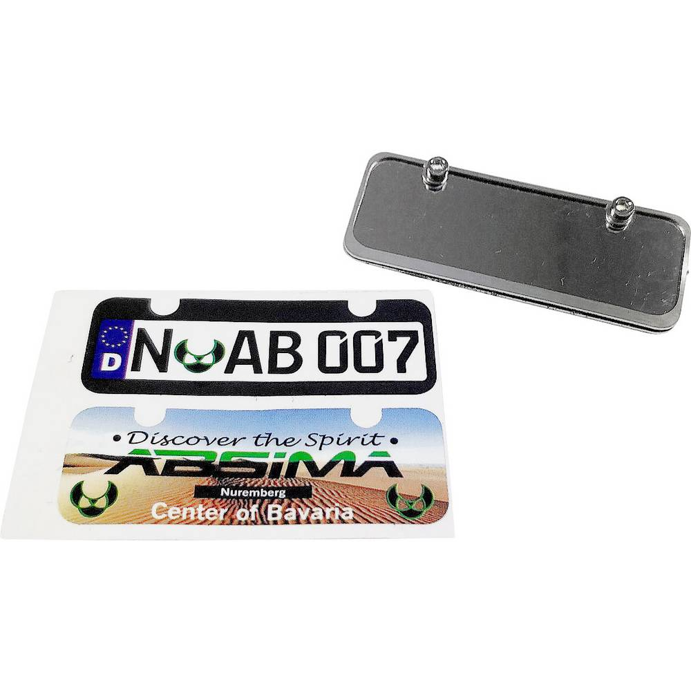 Absima držalo za registrsko tablico srebrna