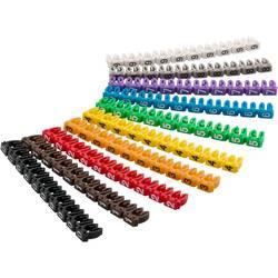 Goobay 72513 sponka za označevalne oznake Tiskanje 0 - 9 Premer zunanjega območja 1.50 do 2.50 mm 72513