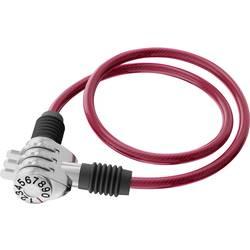Basi kabelska ključavnica rdeča ključavnica s številčnico
