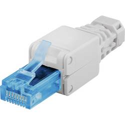Konektor RJ45 brez orodja brez zaščite CTP 6A UTP ravni moški konektor Goobay 59227 1 kos