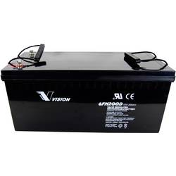 Vision 6FM200DX VIS6FM200DX svinčeni akumulator 12 V 200 Ah svinčevo-koprenast (Š x V x G) 522 x 240 x 238 mm m8-vijačni priklop