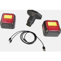 Berger & Schröter komplet osvetlitve 13-polni zaviralna luč, smerni kazalec, zadnja luč 12 V rdeča, oranžna, črna vklj. magnetno