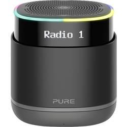 Pure StreamR glasovno voden zvočnik aux, neposredno vgrajena Amazon Alexa, WLAN črna