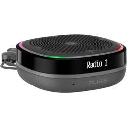 Pure StreamR Splash glasovno voden zvočnik fm radio, vodoodporen, uporaba na prostem, aux črna