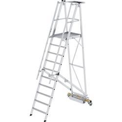 Günzburger Steigtechnik 52710 aluminij dvodelna lestev montaža z orodjem Delovna višina (maks.): 4.3 m