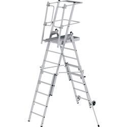 Günzburger Steigtechnik 52536 aluminij dvodelna lestev montaža z orodjem
