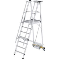 Günzburger Steigtechnik 52707 aluminij dvodelna lestev montaža z orodjem Delovna višina (maks.): 3.6 m