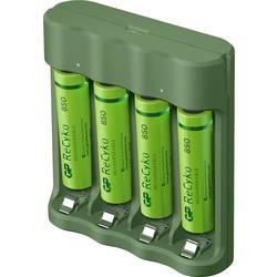 GP Batteries Basic-Line 4x ReCyko+ Micro polnilnik okroglih celic vklj. aku nikelj-metal-hidridni micro (aaa), mignon (aa)