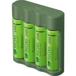 GP Batteries Basic-Line 4x ReCyko+ Mignon polnilnik okroglih celic vklj. aku nikelj-metal-hidridni micro (aaa), mignon (aa)